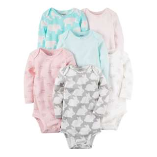 Carters rabbit sleep suit romper pink elephant
