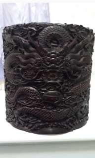 五爪龍紫 檀木筆筒 27X27cm重8Kg
