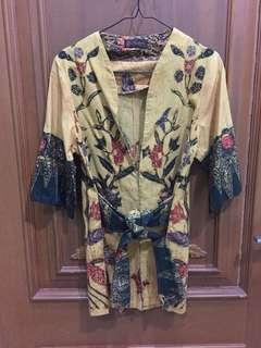 Dress batik yellow kuning