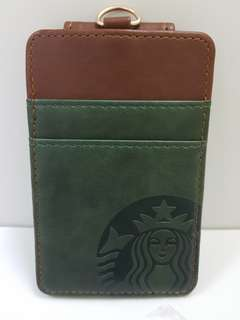 Starbucks  leather name tag