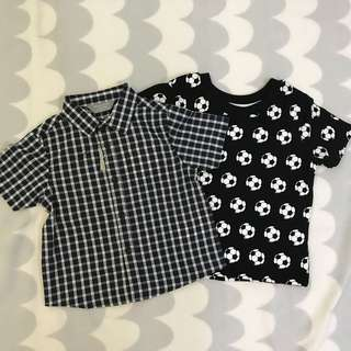 60's Primark Shirt Size 6-9 months old Combo set