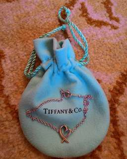 "Authentic Tiffany & Co. ""Loving Heart Bracelet"""