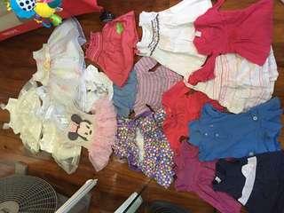 16pcs baby dresses assorted brands