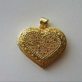 Hancrafted Love Locket Pendant Silver  Gold Plated