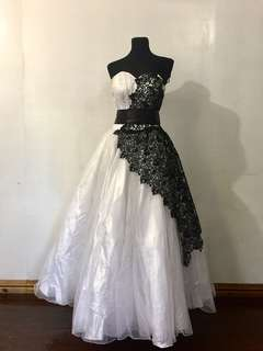 Black and White Gown