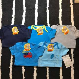5 for $25 - set of 5 Baby Romper