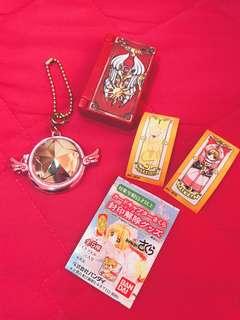 🚚 🎀庫洛魔法使 扭蛋 玩具 收藏 吊飾 紙牌 僅收藏