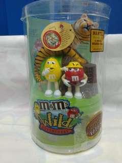 絕版全新 M & M'S WILD ADVENTURE 紅黃色豆 × WWF 限量版老虎錢箱 1 件