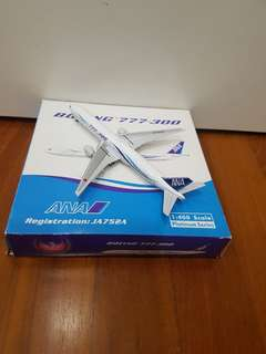 ANA Boeing 777-300 Airplane Model ( full diecast)