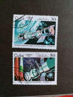 古巴郵票 太空站 已銷郵票
