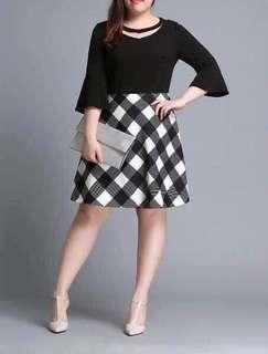 Black top checkered skirt Dress