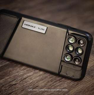 100%全新!MOMAX iPhone X 或8 plus 6合1鏡頭組合保護殼 MOMAX IPhone X/8 plus-Lens Case