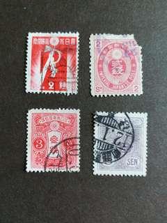 日本郵票 二戰時期大日本帝國 已銷郵票