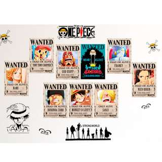 One Piece Poster Set 9 in 1