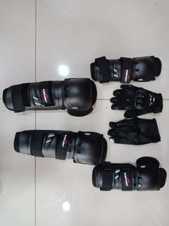 Shin and knee guard with gloves set n po yan