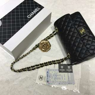 Chanel Classic Caviar Flap with Gold Hardware