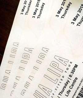Dua Lipa @ KL (8 VIP tickets) 1 tickets RM450
