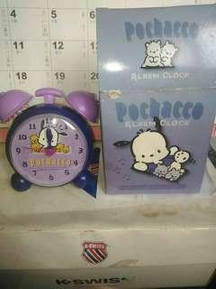 2001年版 POCHACCO Sanrio 正版  紫色 全新 閙鐘