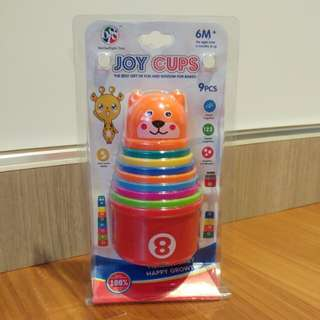 BNIB Stacking cups for baby