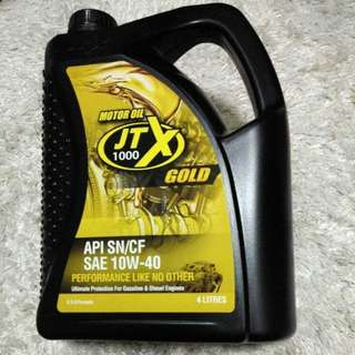 Engine Oil: JTX 1000 Gold 4 Litres