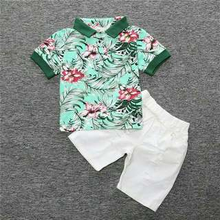 Summer Outfit Kids Floral Terno