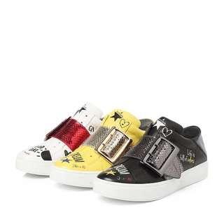 Millie's SS18 graffiti sneakers yellow