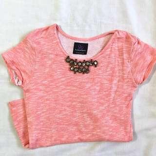 Plains and prints salmon pink top