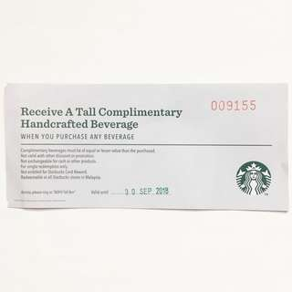 [FREE] Starbucks Voucher
