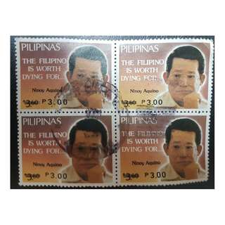 1988 Philippines Used Stamps B/4 Memorial to Benigno Aquino