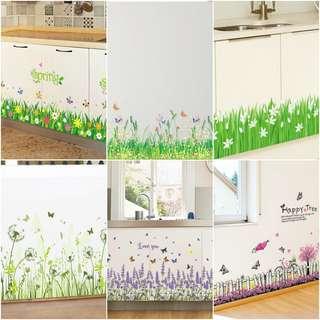 Grass Wall Decal/Sticker Wall Home Decor/Decorations DIY