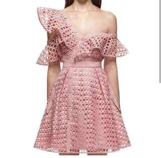 Saturday Dress pink lace dress