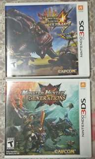 Selling both MHGen and MH4U 3DS