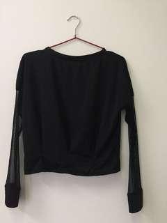 Cute black long sleeve top