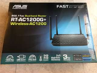 Fast ASUS Dual band router (RT-AC1200G+)