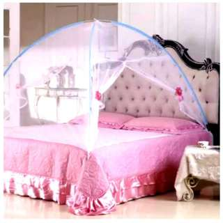 King size Fully Covered Double Door Foldable Sleep Mosquito Net Tent