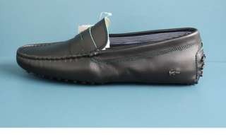 Lacoste Mens Original Concours Black Leather Driving Moccasin
