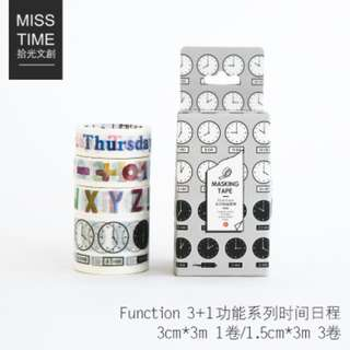Only 2 Instock! Function Theme Washi Tape Set