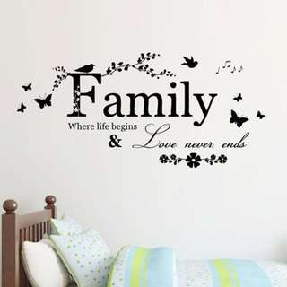 Family Living room Wall Home Decor Decal Wallpaper Sticker
