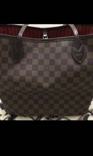 Authentic LV Neverfull Damier Ebene MM