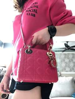Authentic Lady Dior mini with ghw