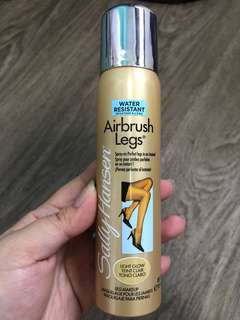 Sally Hansen Airbrush legs spray (light glow makeup for legs)