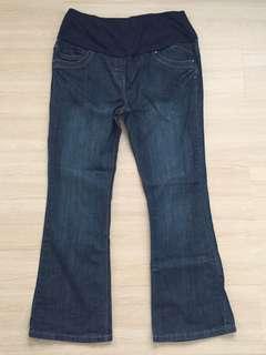 Wide-leg Maternity Dark Blue Jeans