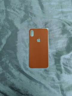 Dbrand orange skin for iPhone X