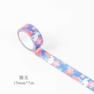 Only 1 Instock! (Mix & Match)*Nihon Rabbit Blue Theme Washi Tape