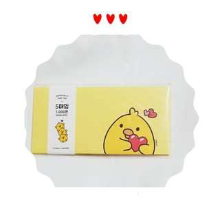 ESPECIALLY FOR YOU  Made in  Korea (可愛🐥🐤🐣黄色📨信封)100% New 韓國帶回 售價HKD25 一包 ST-10