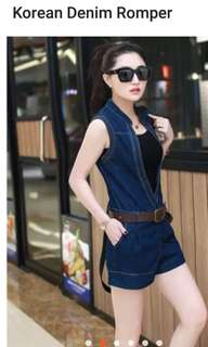 korean denim jumpshort