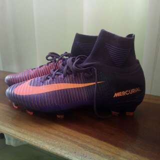 NIKE MERCURIAL SUPERFLY V FG ACC SOCCER CLEATS (PURPLE/ORANGE)
