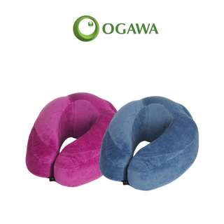 FREE DELIVERY - Ogawa Memory Foam: Luxurious Travel Pillow (Navy or Purple)