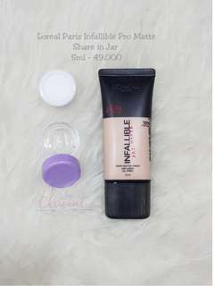 Share in jar loreal pro matte