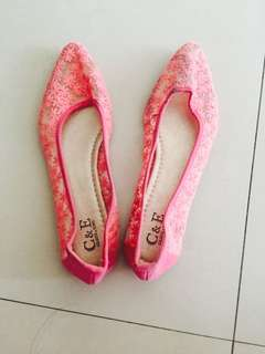 Pink Lace Shoes